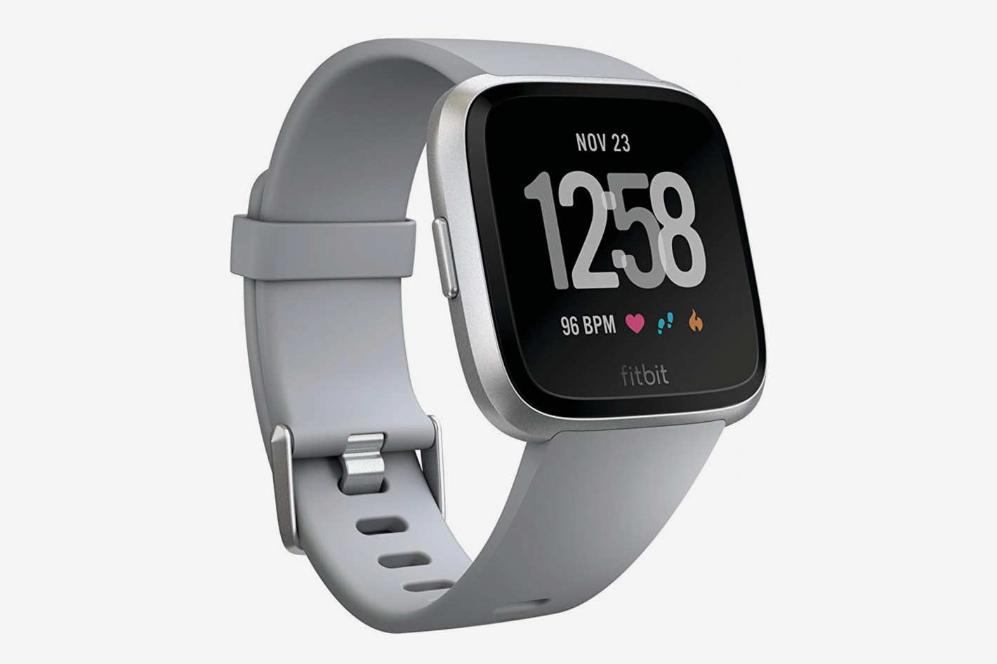 Fitbit Versa Smart Watch, Gray/Silver Aluminium