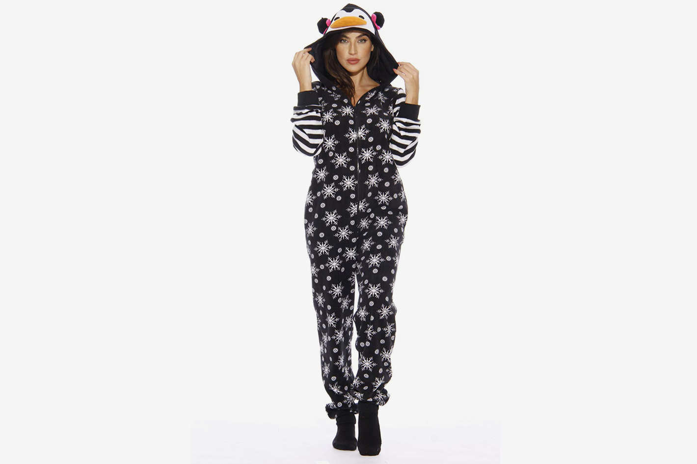 Just Love Holiday Penguin Adult Onesie