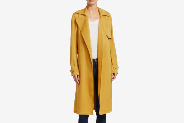 Theory Oaklane Modern Silk Trench Coat