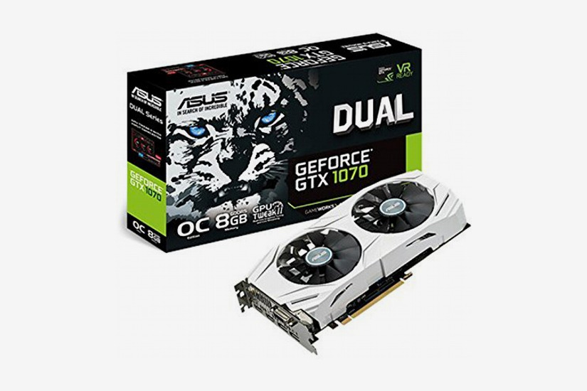 ASUS Dual GeForce GTX 1070 8GB Computer Graphics Card