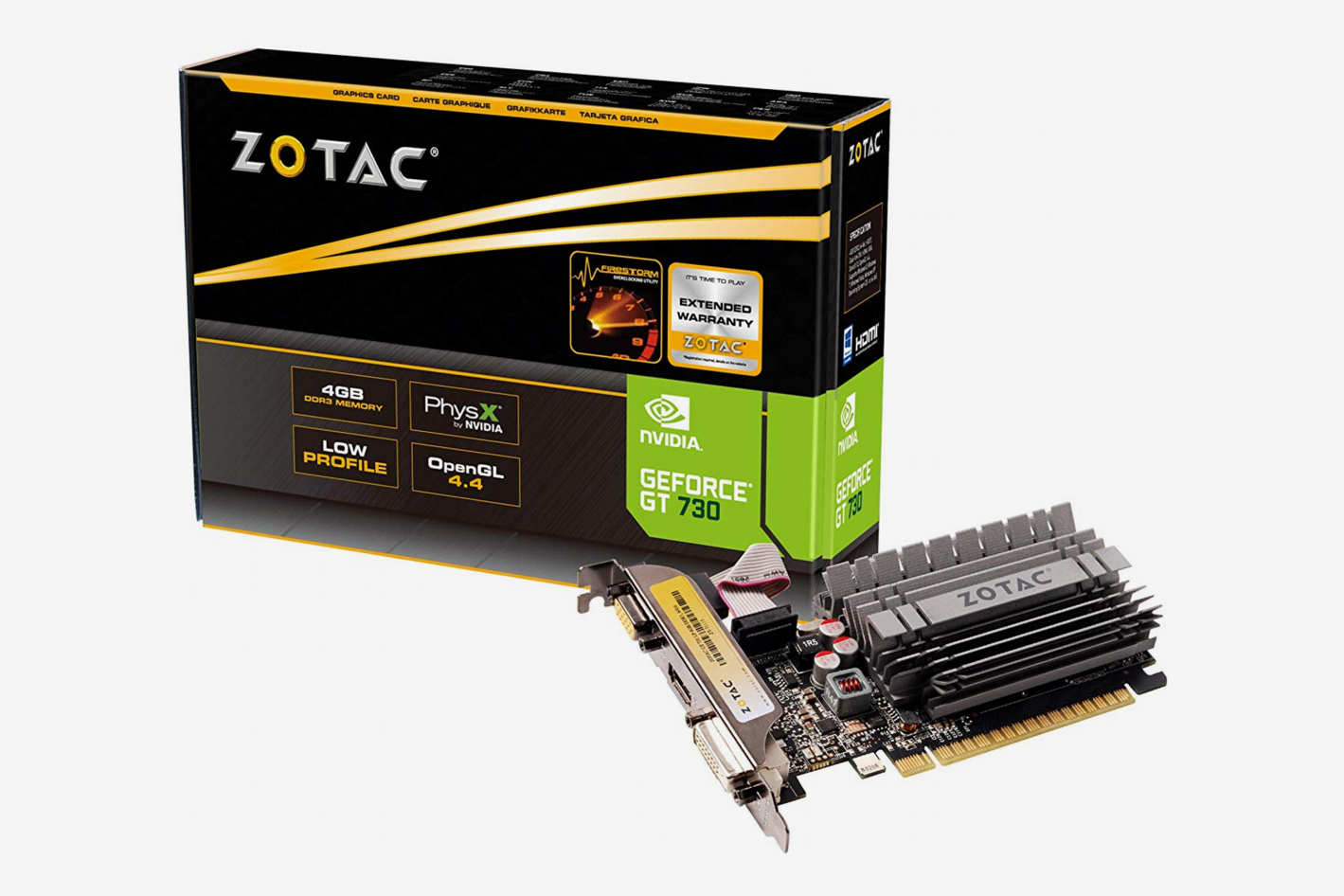 ZOTAC GeForce GT 730 Zone Edition 4GB Graphics Card