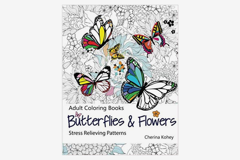 Adult Coloring Book: Butterflies and Flowers