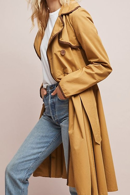 Anthropologie Marley Trench Coat