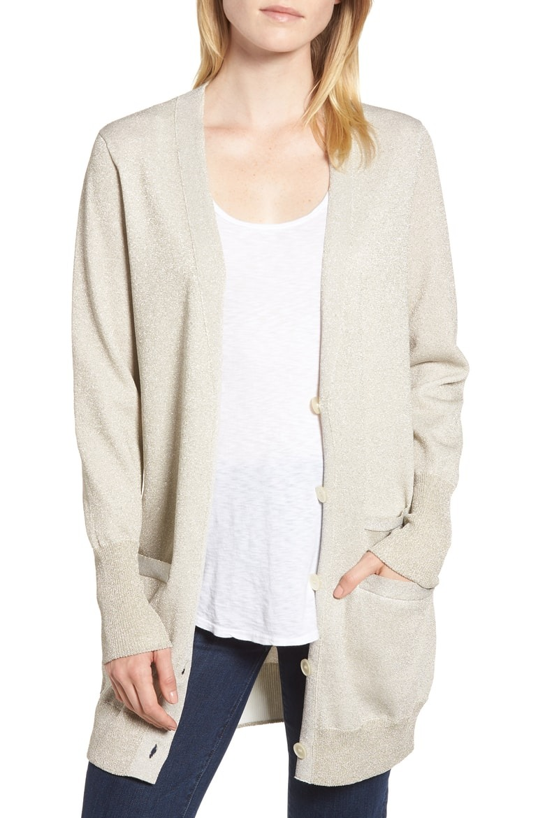 880d9a1def78 J.Crew Collection Long Cardigan in Double Knit Lurex at Nordstrom