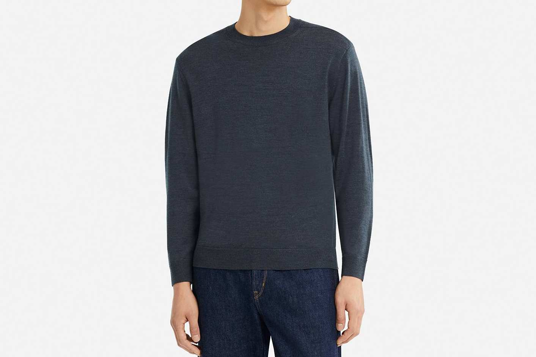 Uniqlo Men's U Extra Fine Merino Crewneck Long Sleeve Sweater