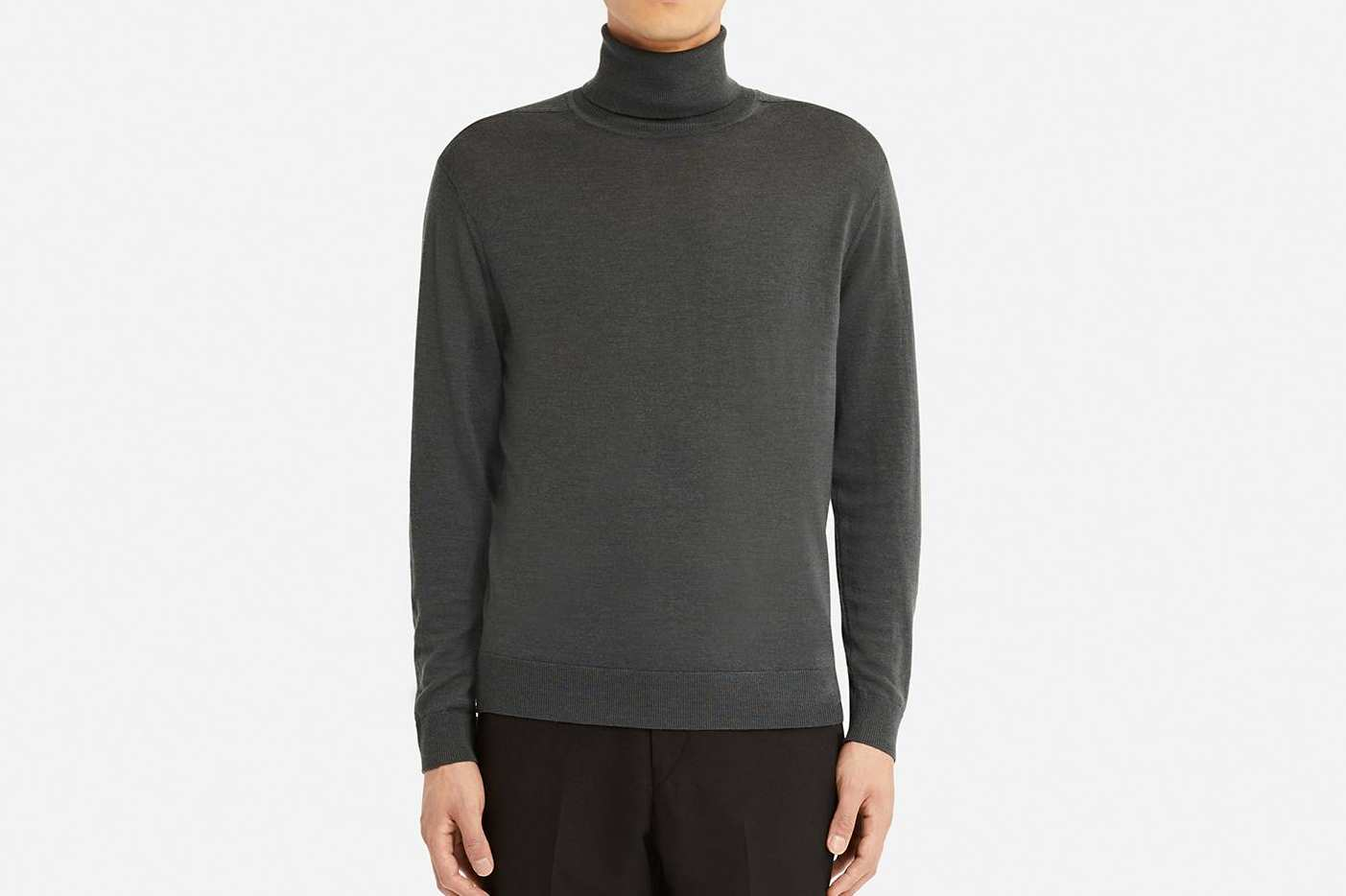 Uniqlo Men's U Extra Fine Merino Turtleneck Long Sleeve Sweater