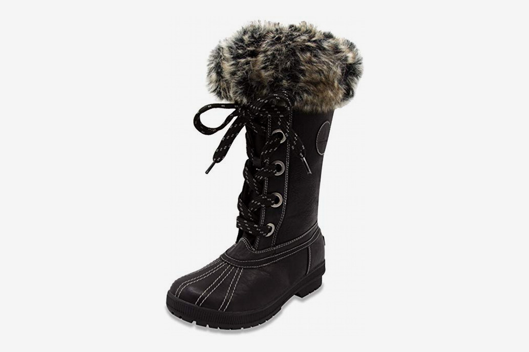 London Fog Women's Melton Cold Weather Waterproof Snow Boot