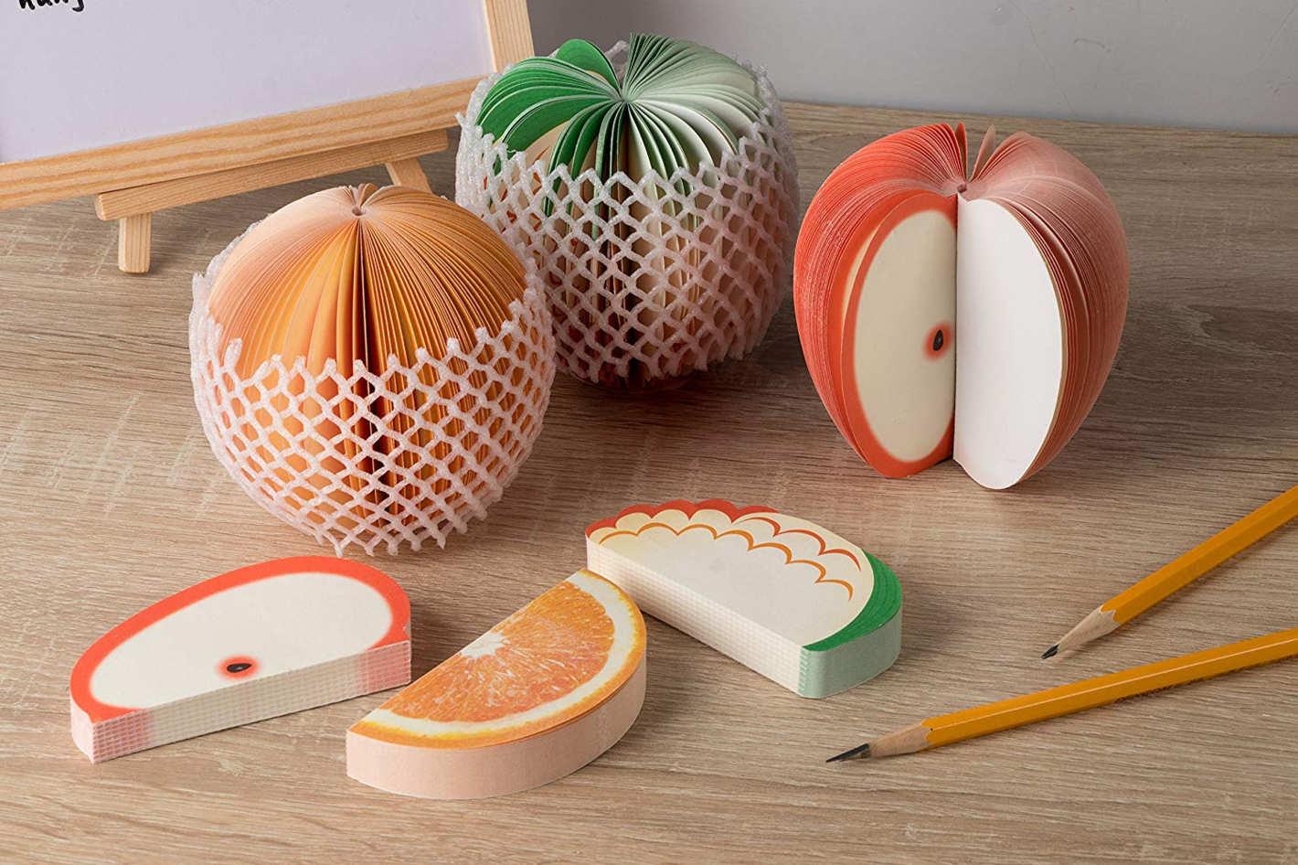 3D Fruit-Shaped Memo Pads