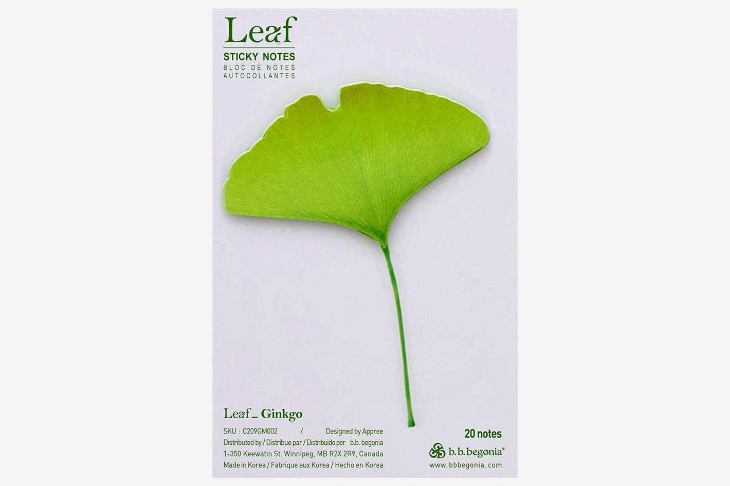 b.b.begonia Leaf_Ginkgo -Sticky Notes, Green