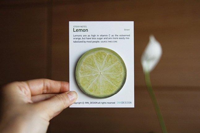 Lemon Sticky Notes