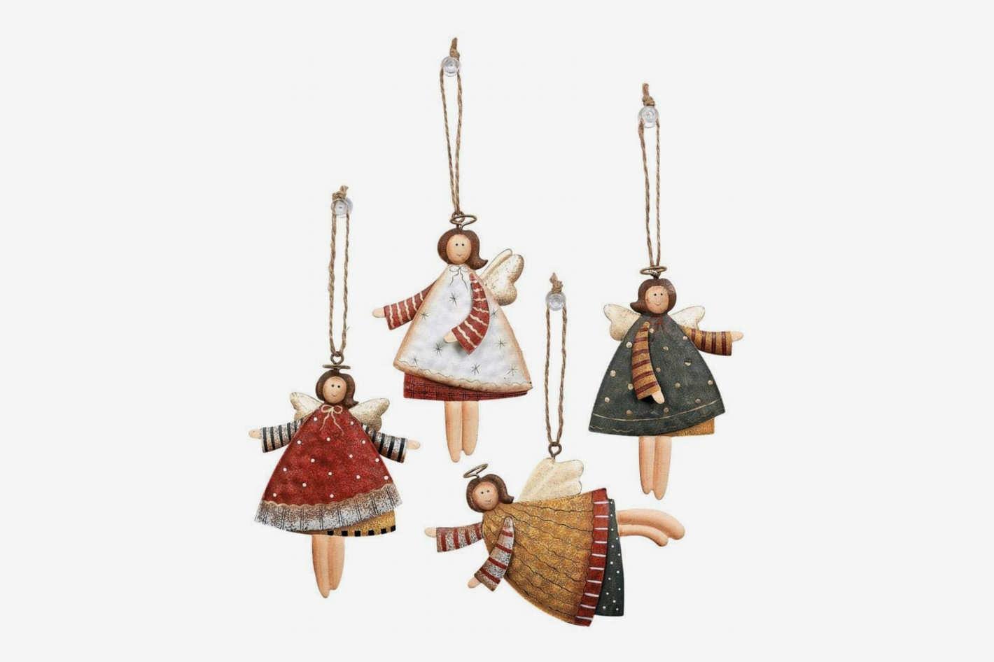 Fun Express 12 Dancing Tin Angels Christmas Tree Ornaments