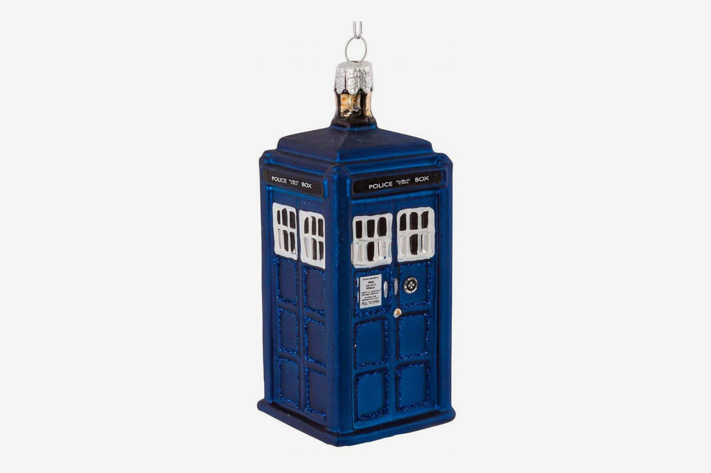 Kurt Adler 4.25-Inch Doctor Who TARDIS Glass Figural Ornament