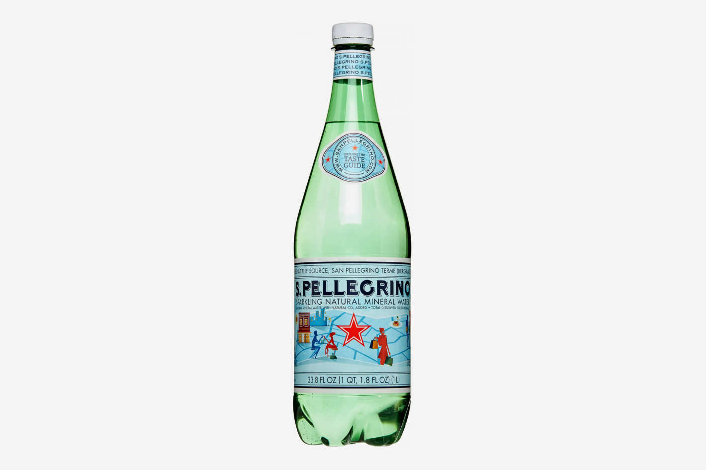San Pellegrino Sparkling Natural Mineral Water, 33.8 Fl Oz (Pack of 12)