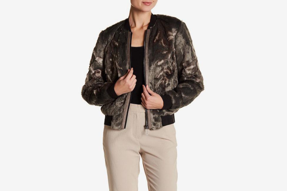 Elie Tahari Brandy Faux Fur Jacket