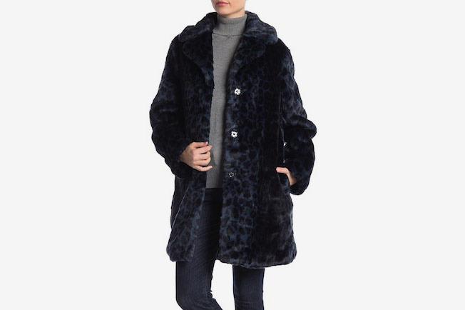 Laundry By Shelli Segal Leopard Faux Fur Coat