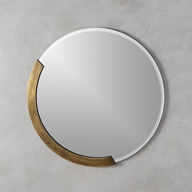 "CB2 Kit 24"" Round Mirror"