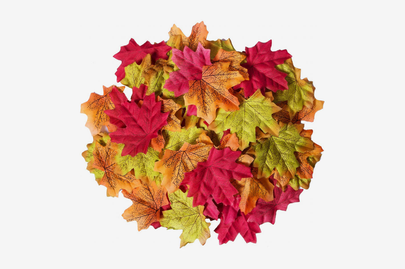 Bassion 210 Pcs Assorted Mixed Fall Colored Artificial Maple Leaves