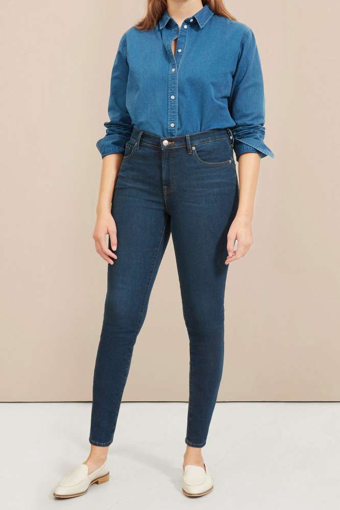 Everlane Authentic Stretch Mid-Rise Skinny