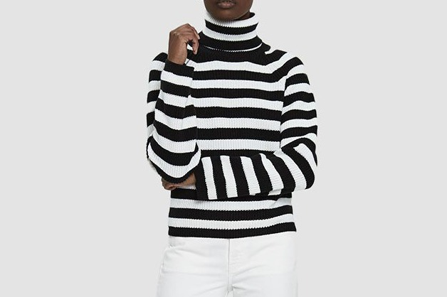 Farrow Ayaan Striped Turtleneck Sweater