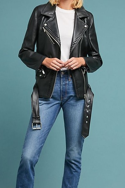Anthropologie Whipstitch Moto Jacket