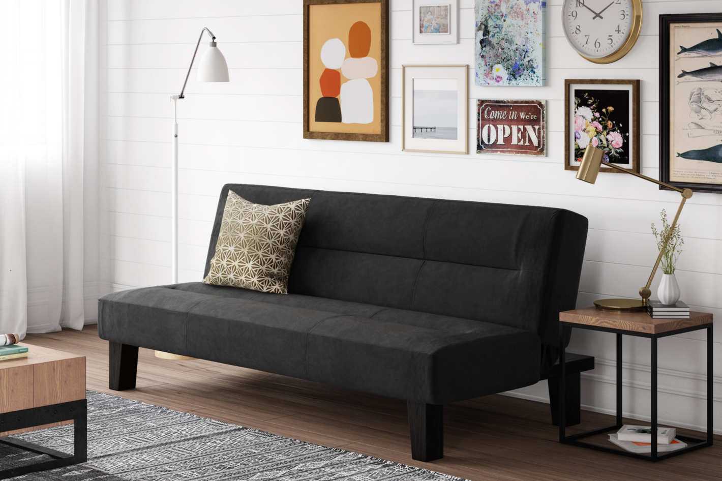 DHP Kebo Futon Couch with Microfiber Cover