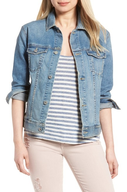 AG Nancy Boyfriend Denim Jacket