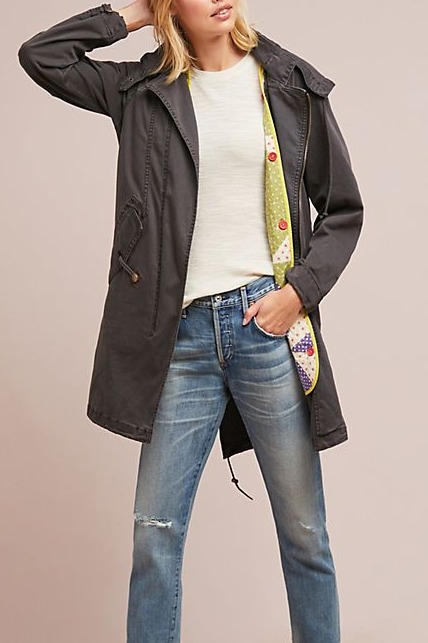 Anthropologie Quilt-Lined Anorak