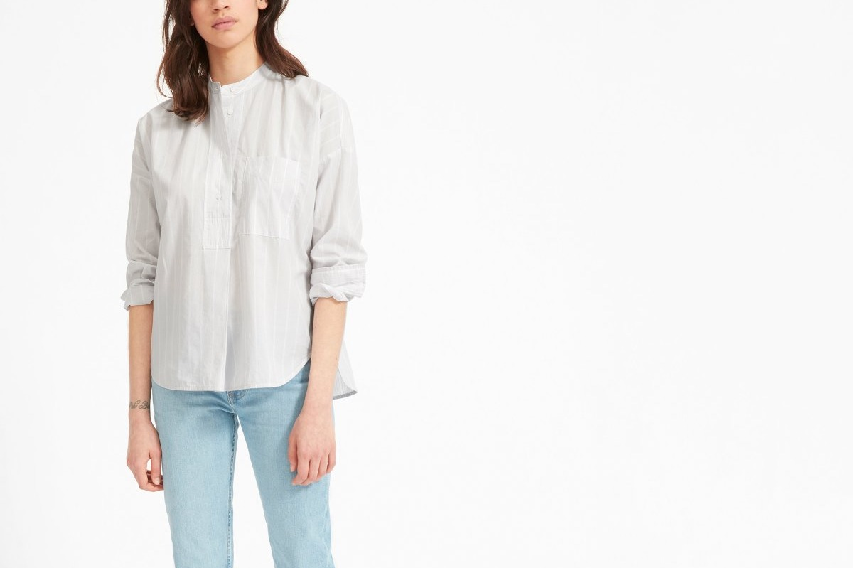 Everlane Soft Cotton Popover Shirt