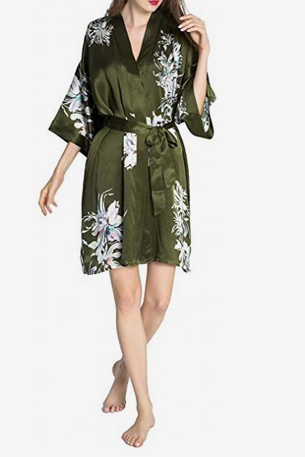 Kim + Ono Silk Yuri Kimono Robe