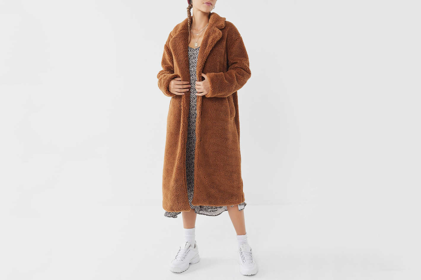 Urban Outfitters Teddy Duster Coat