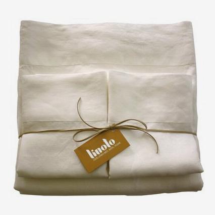 Linoto Luxurious Pure Linen Bed Sheet Set