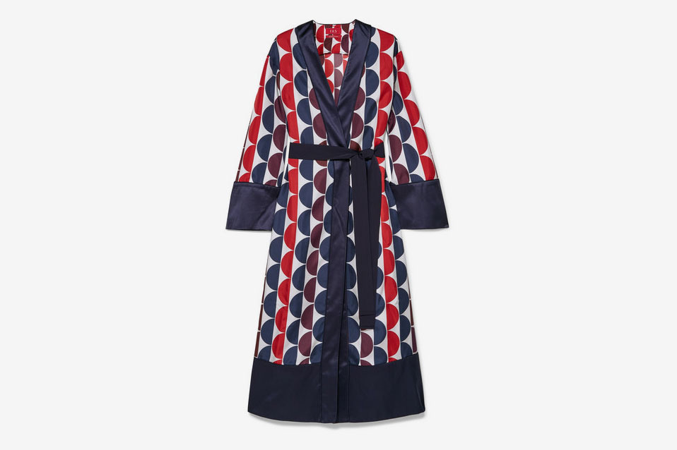 a26bfe57b5e4 F.R.S for Restless Sleepers Nomos Satin-trimmed Printed Silk-twill Robe