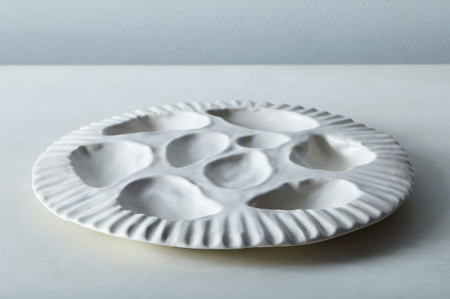 Sin Porcelain Oyster Plate