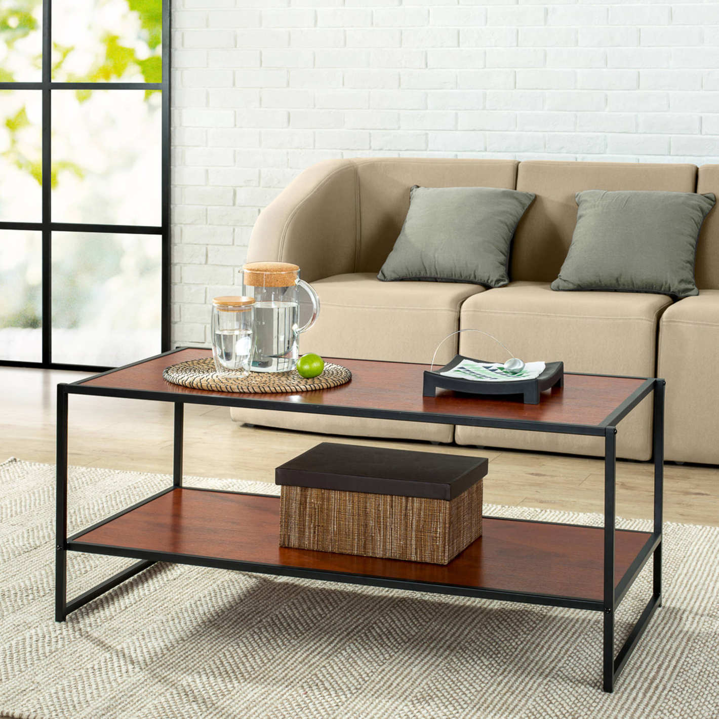 Modern Studio Collection Deluxe Rectangular Coffee Table