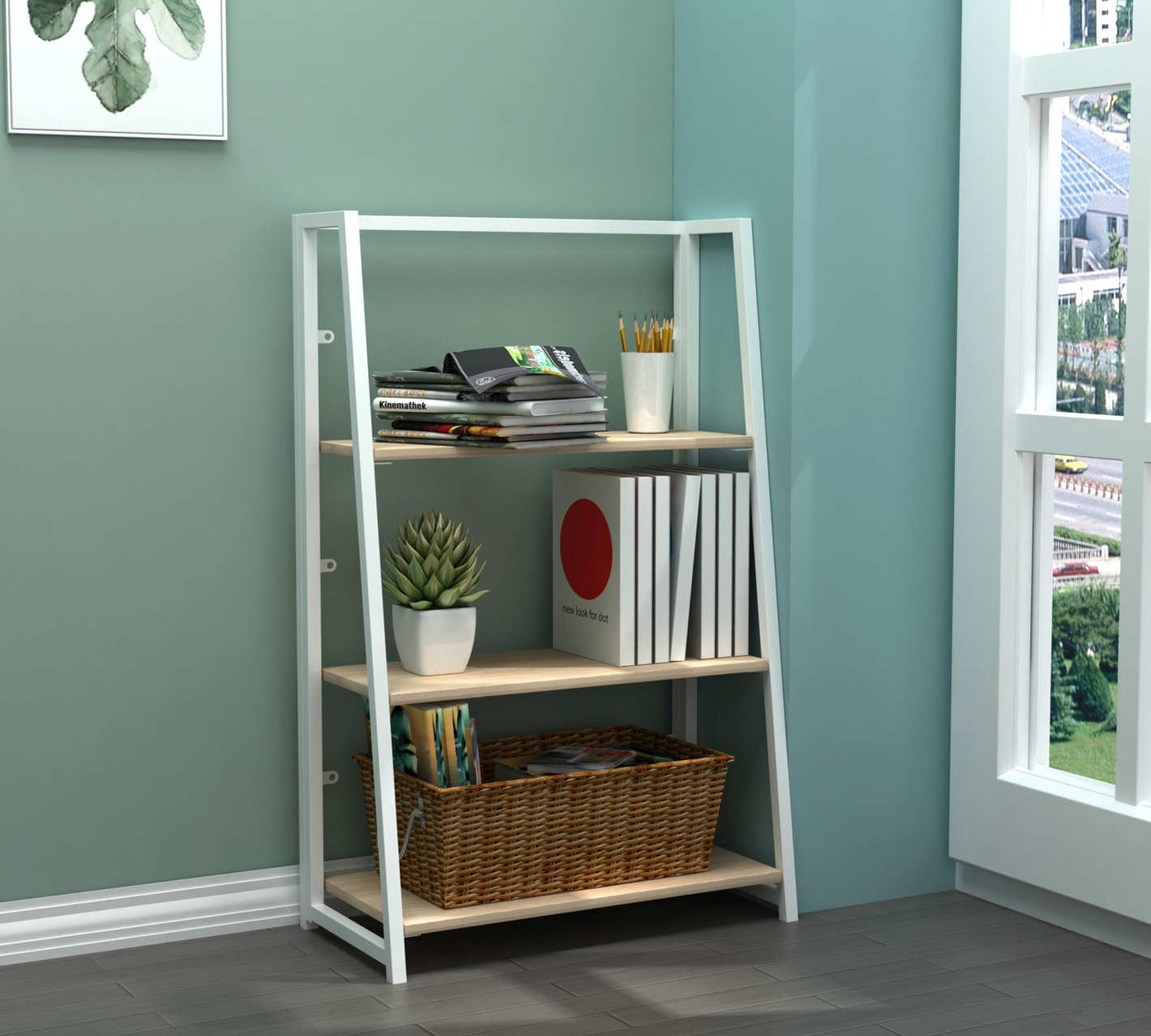 "Mainstays 40"" Bayhill Foldable Bookcase"