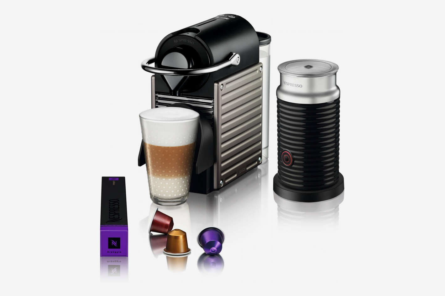 Nespresso by Breville Pixie Espresso Maker Bundle