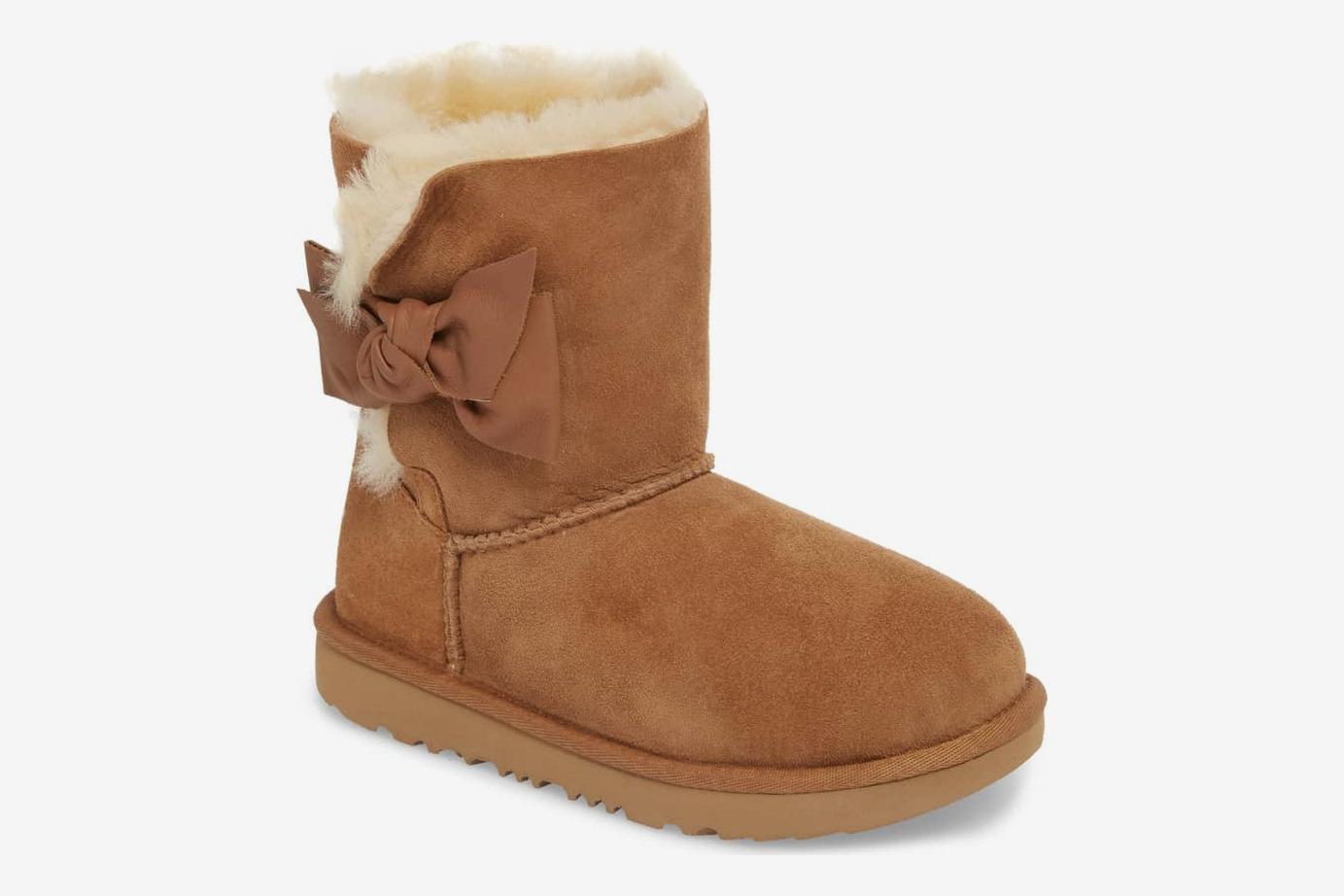 UGG Daelynn Bow Genuine Shearling Boot