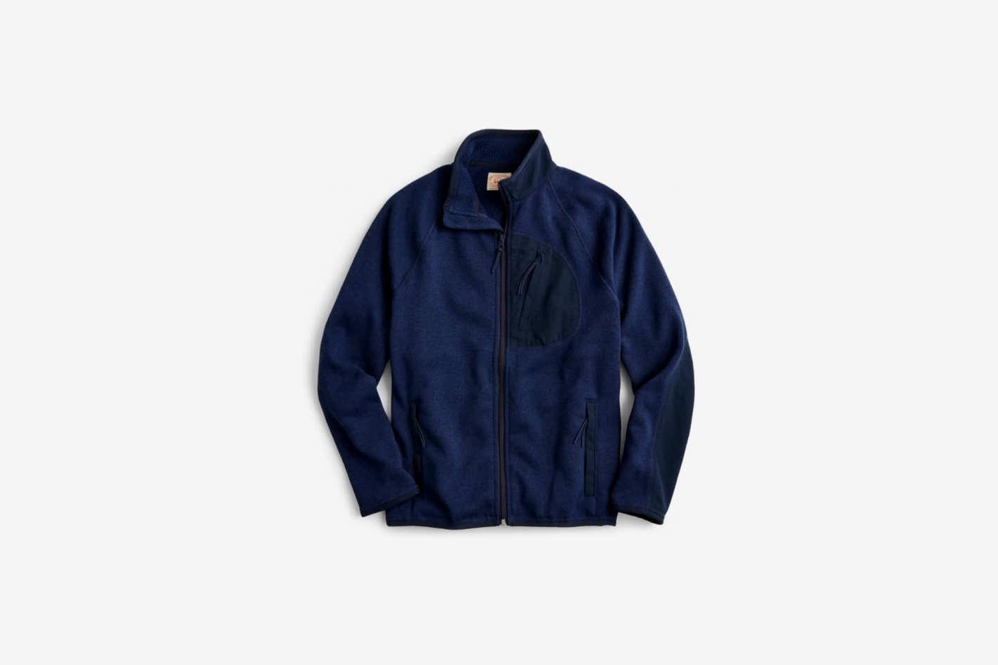 J. Crew Classic Fit Fleece Sweater Jacket