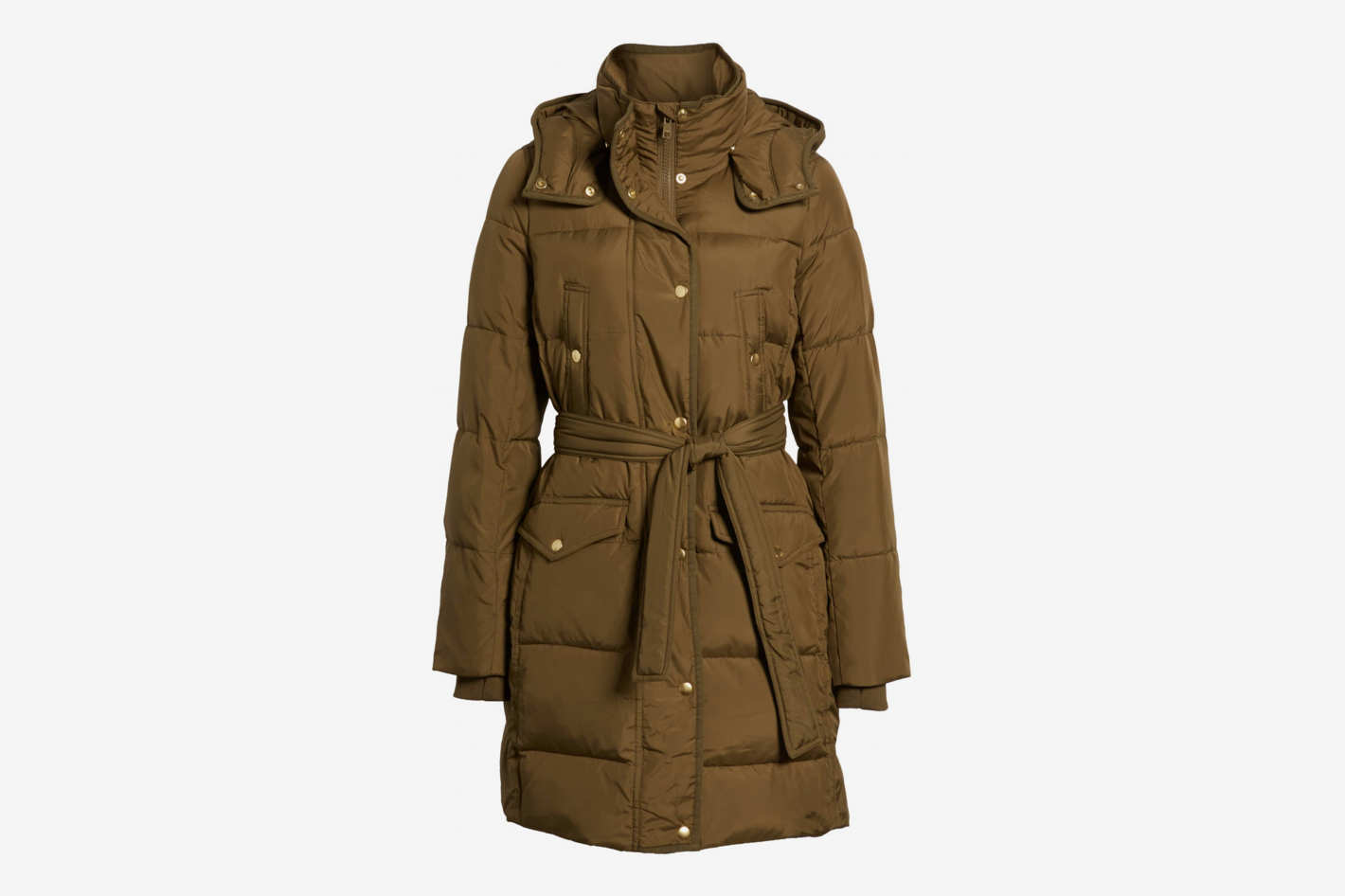 J. Crew Wintress Belted Down Puffer Coat