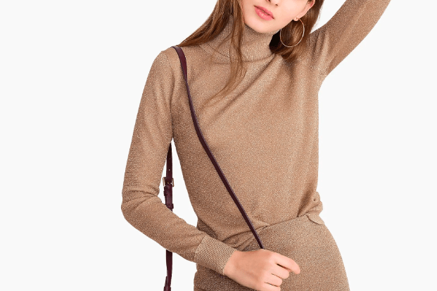 J.Crew Turtleneck sweater in metallic knit