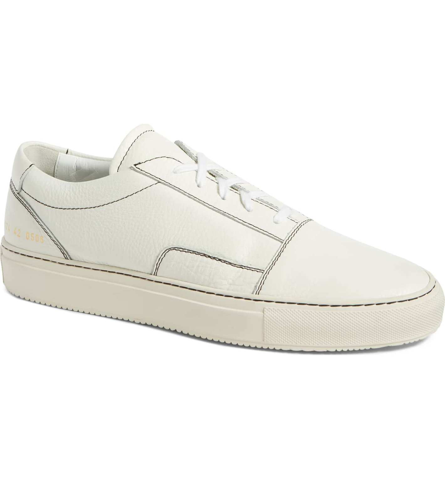 Common Projects Skate Low (Men), White Leather