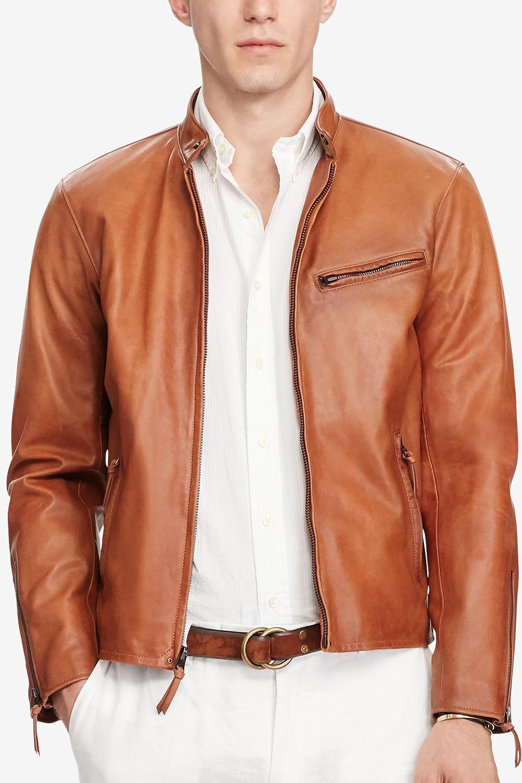 Polo Ralph Lauren Café Racer Leather Jacket