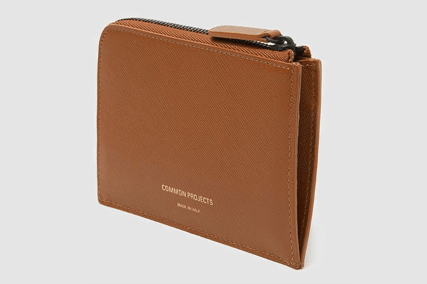 Common Projects Zipper Wallet in Brown