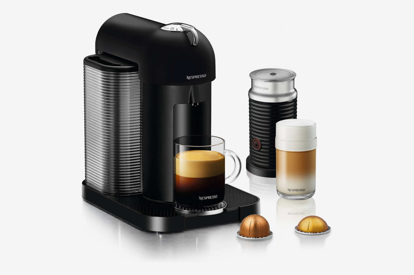 Nespresso by Breville VertuoLine Coffee and Espresso Maker Bundle with Aeroccino Frother