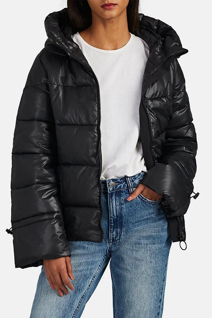 Barneys New York Hooded Puffer Jacket