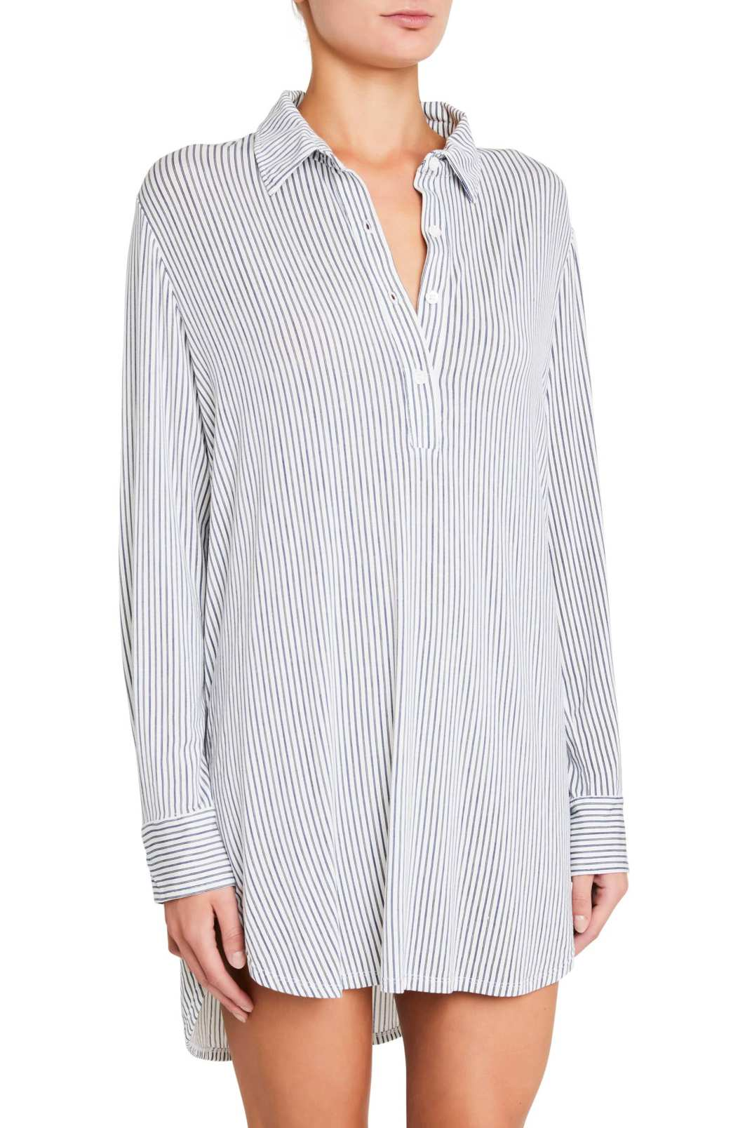 Eberjey Nordic Stripe Boyfriend Sleep Shirt