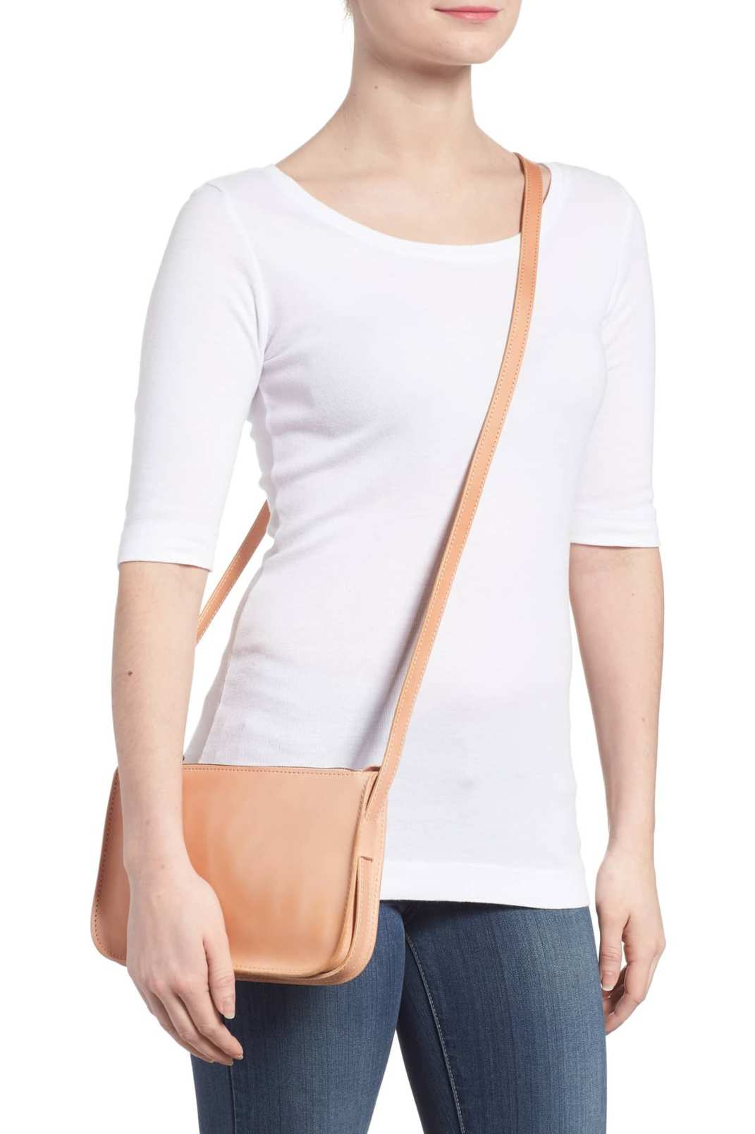 Madewell Simple Leather Crossbody Bag