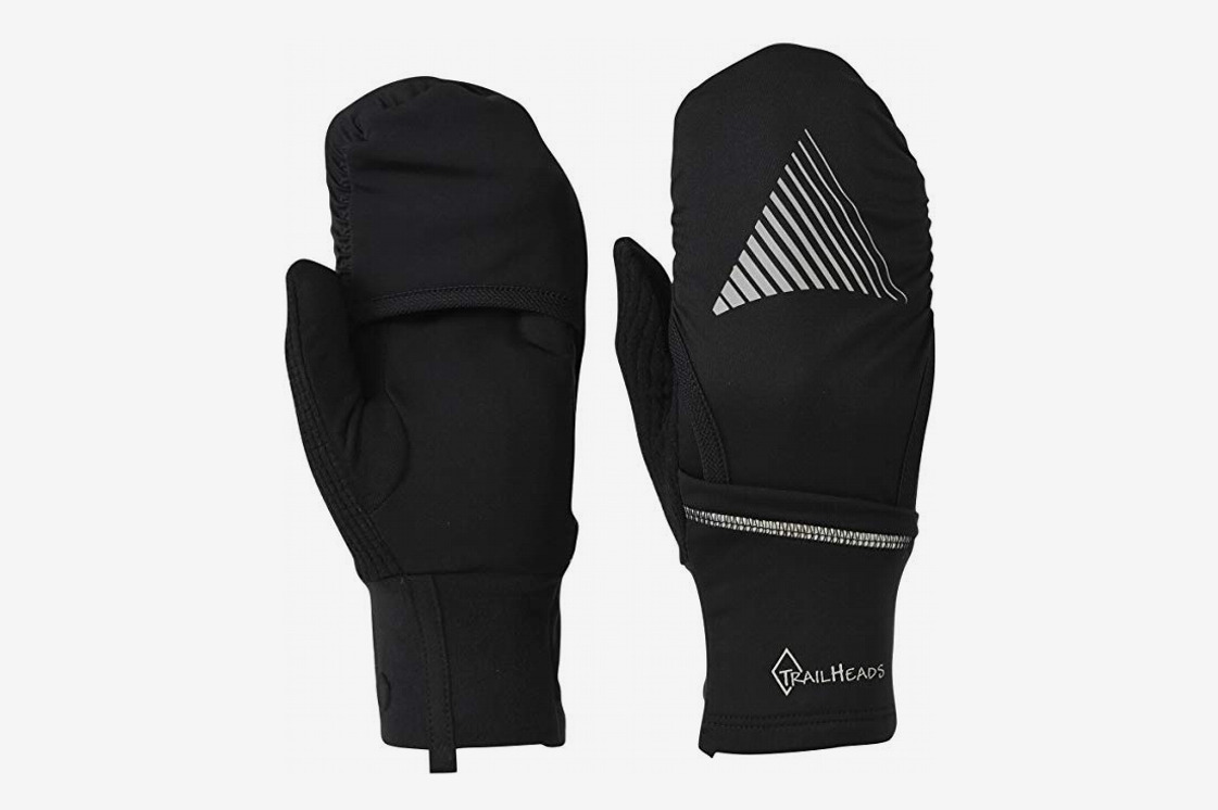 TrailHeads Touchscreen Gloves with Reflective Waterproof Mitten Shell