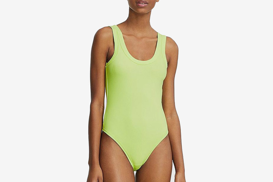 Uniqlo x Alexander Wang Heattech Ribbed Bodysuit in Yellow