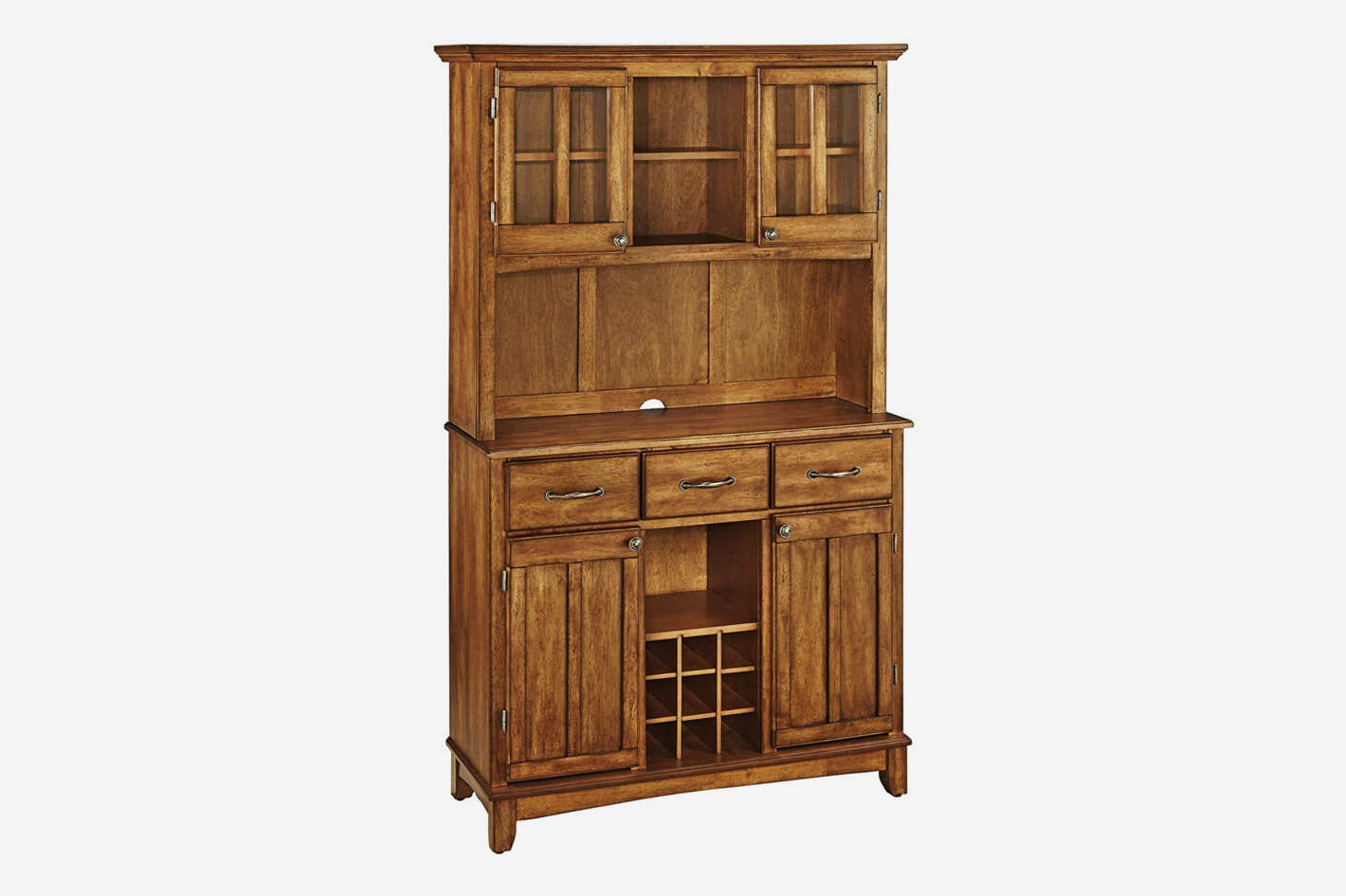 Home Styles Buffet of Buffets Cottage Oak Wood With Hutch